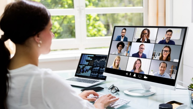 Show picture on zoom meetings